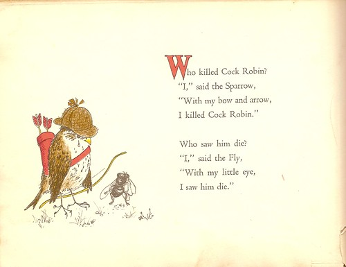 Image from Who Killed Cock Robin? by Barbara Cooney (1965)