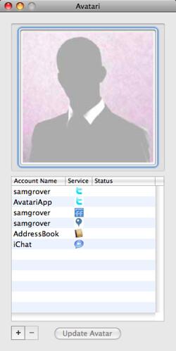 Avatari now supports AddressBook, iChat, Shizzow and auto-updating!