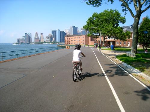 me, riding a bike