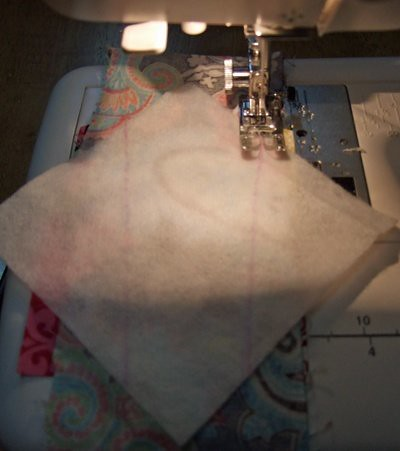 Sewing the line. by you.
