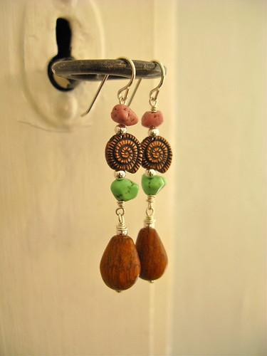 Pirate romance earrings