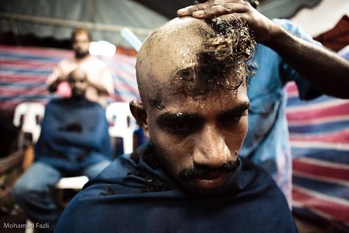 Haircut during Thaipusam
