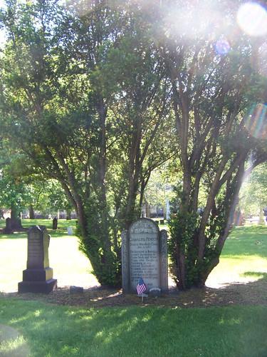 Both of Gamaliel Fenton's tombstones