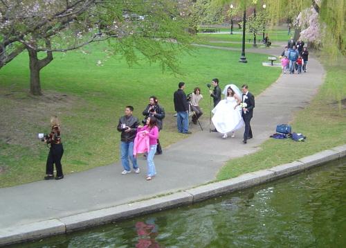 Chilly April bridal shoot