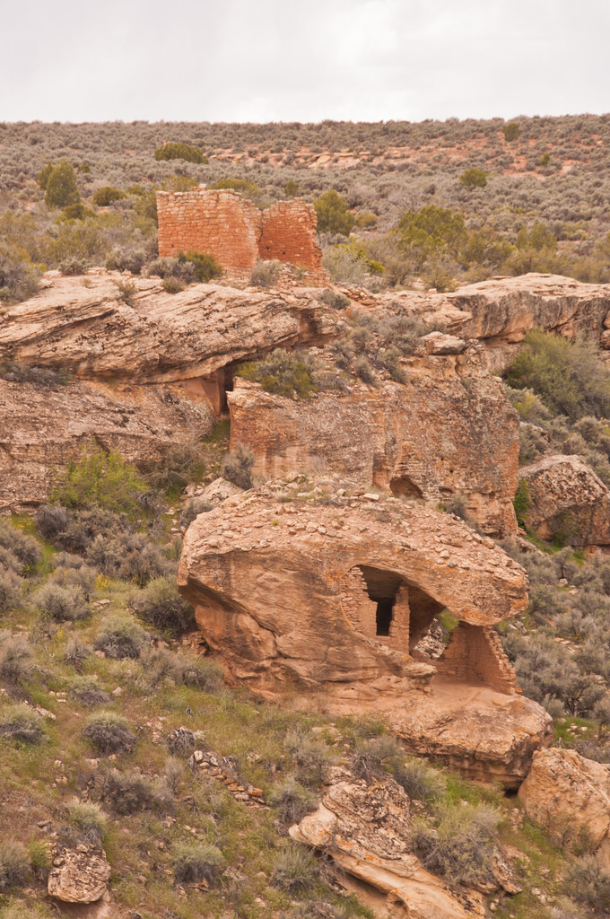 The Eroded Boulder House and the Twin Towers, Hovenweep