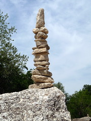 Cairn on Barton Creek