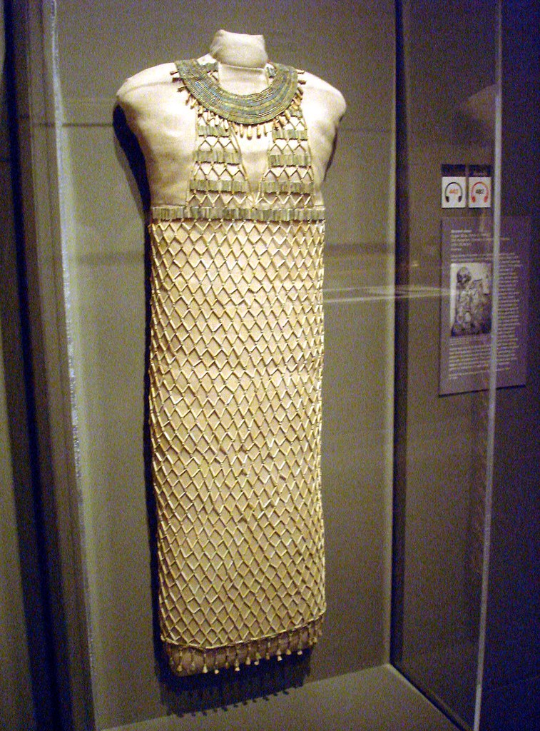 Building the New Museum of Fine Arts MFA beadwork beadnet dress egyptian Giza ancient beads