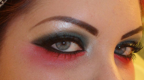 Blue and Red MAC eyeshadow