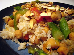 Brown Rice, Asparagus and Chickpeas