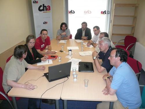 La dirección de CHA se reúne con Teruel Existe