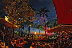 Fireworks in Waikiki