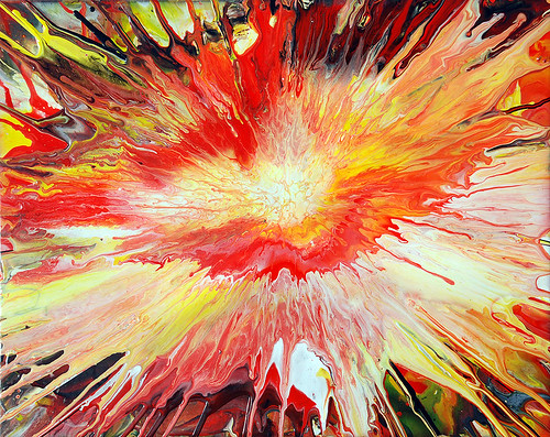 explosion painting by Mark Chadwick