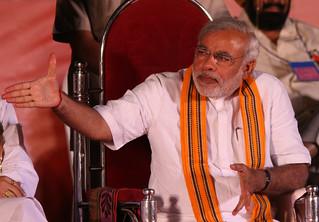 Narendra Modi at a BJP rally
