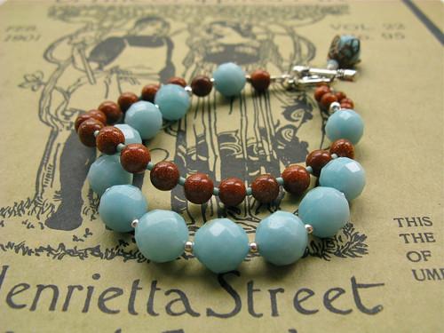 My Lady bracelet in aqua/goldstone