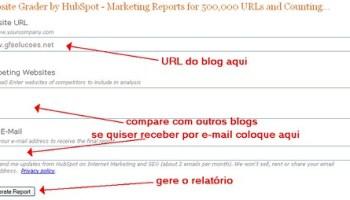 analise o seu de seu blog