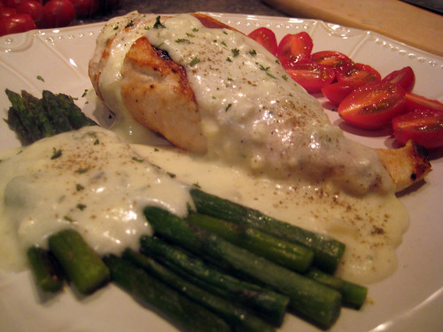 Grilled Chicken in Creamy Feta Sauce