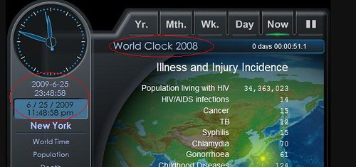 World Clock Screen Capture