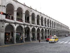 White Stone Arches around Plaza
