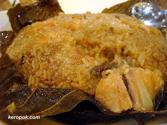 Glutinous Rice with Pork Wrapped in Lotus Leaf