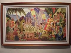 Hula for the king, tourist realism art, Royal ...