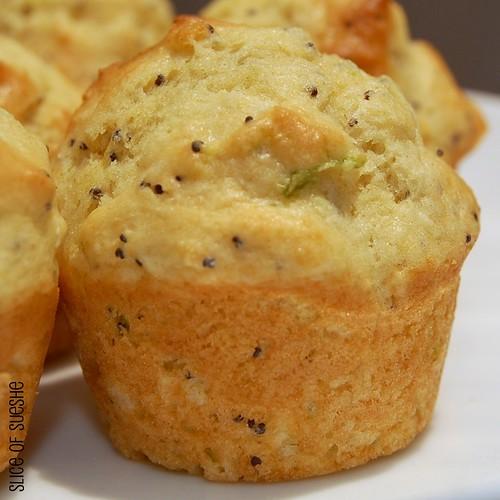 lemon-lime poppy seed mini muffins