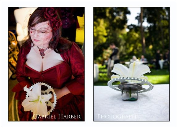 The bride's sprocket bouquet