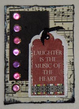 laughter artist trading card (c) 2009, Lynne Medsker