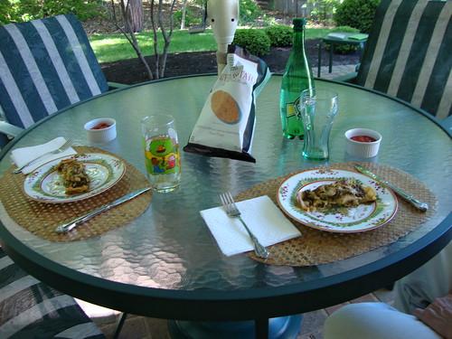 First Al Fresco Lunch of '09