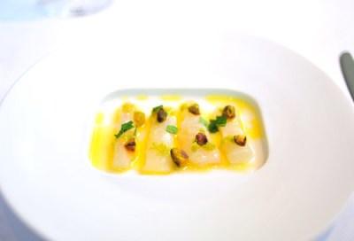 1st Course: Black Sea Bass Sashimi