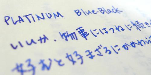 PLATINUM Blue Black