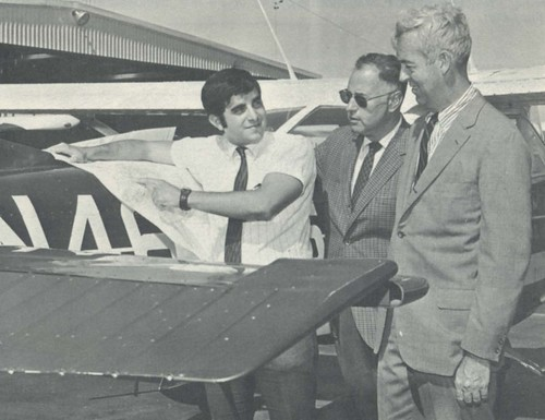 Bob Stangarone, first commercial pilot licensed at Dowling.