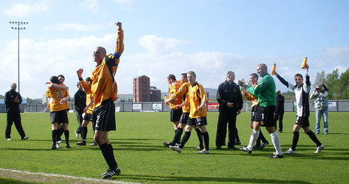 Dumbarton players at the final whistle
