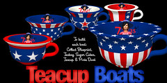 Stars and Stripes Teacup Boats