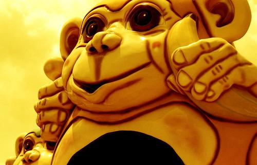 Redscale Monkey Ride. (Fuji Superia Reala 100 — Redscaled. Nikon F100. Epson V500.)