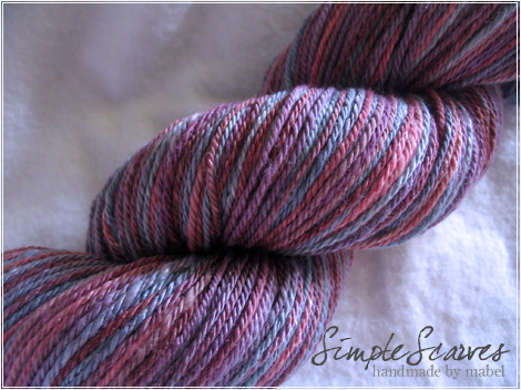 Simple Scarves Merino-Silk (3 ply) in Purple Waters