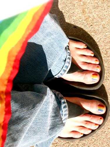 rainbow toes