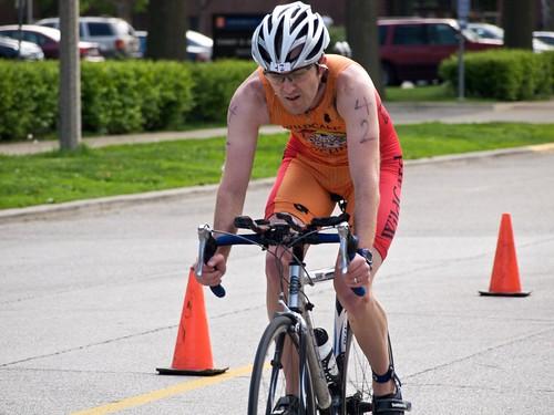 Rob finishes the bike