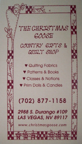 The Christmas Goose Quilt Shop May