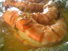 STP's cheese & butter prawns