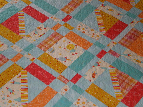 Friday i m in love robots make it modern for Robot quilt fabric
