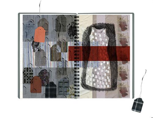 Labels Dress. Computer Generated Print. 420mm x 297mm. 2008.