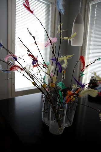 Decorated willow twigs