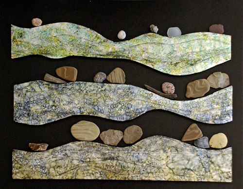 river rocks #2, (work in progress) after inking