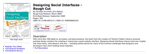 Designing Social Interfaces - Rough Cut | O'Reilly Media