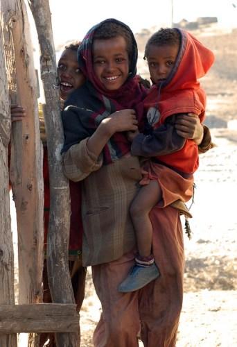 Ethiopian children stare at me, yet again