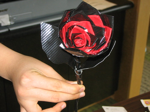 Anti-Valentine's Day Party: Duct Tape Rose
