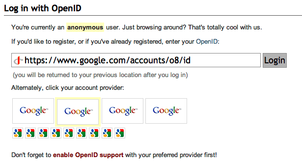 OpenID without choice