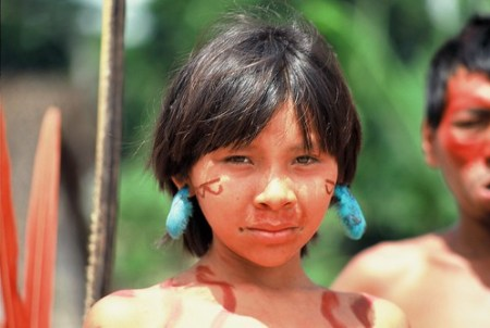 Jeune Yanomami - Photo : christiancaron2000