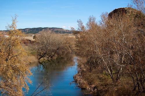 El Río Henares a su paso por el puente Zulema