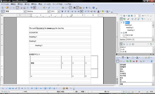 Test Document 1 on OpenOffice.org 3.1 RC2